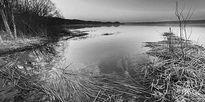Herring Photograph - Upper Herring Lake In Black And White by Twenty Two North Photography