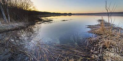 Herring Photograph - Upper Herring Lake Spring Morning Panorama by Twenty Two North Photography