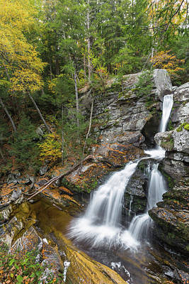 Kent Falls Photograph - Upper Kent Falls Autumn by Bill Wakeley