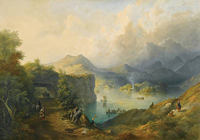 Painting - Upper Lake Killarney Taken From The Tunnel by Richard Brydges Beechey