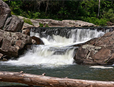 Photograph - Upper Linville Falls by John Haldane