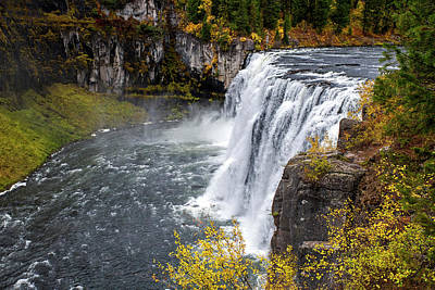 Photograph - Upper Mesa Falls by Alex Galkin