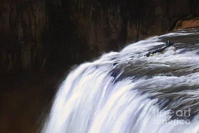 Upper Mesa Falls Art Print by Dennis Hammer