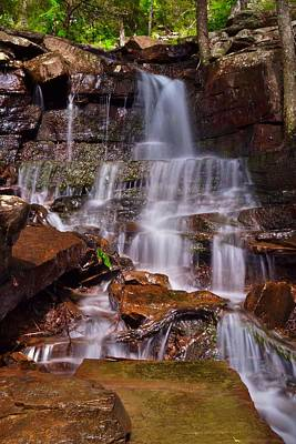 Mount Nebo Photograph - Upper Mount Nebo Falls by Dennis Nelson