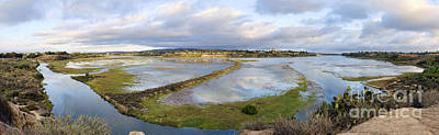 Photograph - Upper Newport Bay Nature Preserve Panorama by Eddie Yerkish