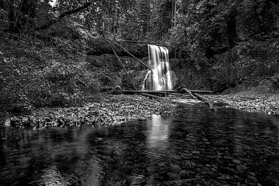 Photograph - Upper North Falls Bw by Belinda Greb