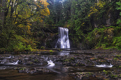 Photograph - Upper North Falls by Mark Kiver