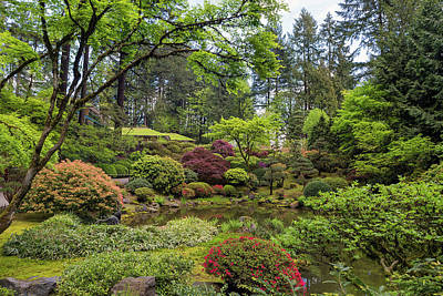 Photograph - Upper Pond At Portland Japanese Garden by Jit Lim