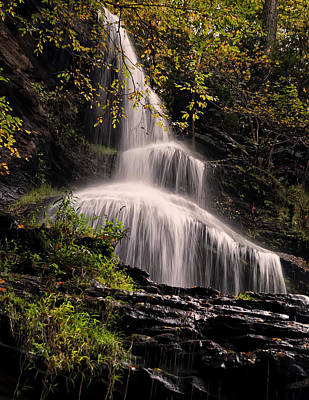 upper portion of Cathedral Falls Art Print by Chris Flees