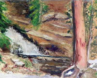 Painting - Upper Provo River Falls by Sherril Porter