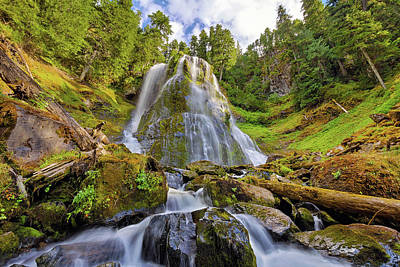 Photograph - Upper Tier Of Falls Creek Falls In Summer by David Gn