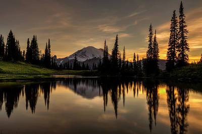 Photograph - Upper Tipsoo Sunset by Mark Kiver