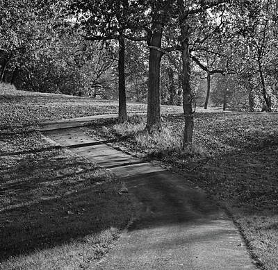 Photograph - Upper Trail - Mahr Park - Kentucky - Bw by Greg Jackson