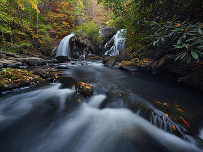 Photograph - Upper Turtletown Falls Autumn by Dennis Sprinkle