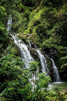 Photograph - Upper Waikani Falls by Kelley King