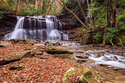 Streams Photograph - Upper Waterfalls Of Holly River by Andy Crawford