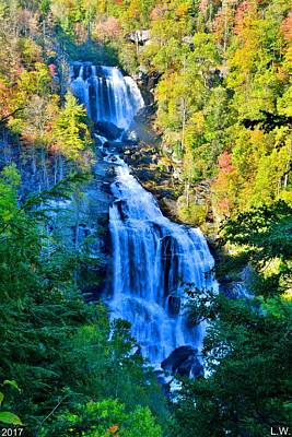 Photograph - Upper Whitewater Fall North Carolina Vertical by Lisa Wooten