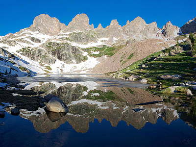 Gore Range Photograph - Upper Willow Lake by Aaron Spong