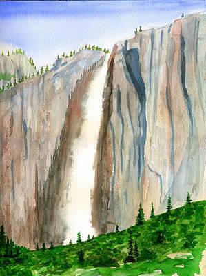 Painting - Upper Yosemite Falls by Douglas Castleman