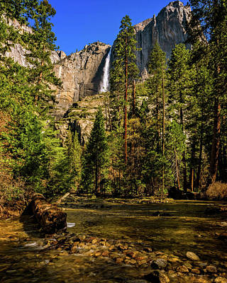 Upper Yosemite Falls From Yosemite Creek Art Print