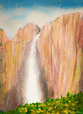 Painting - Upper Yosemite Falls In The Spring by Douglas Castleman
