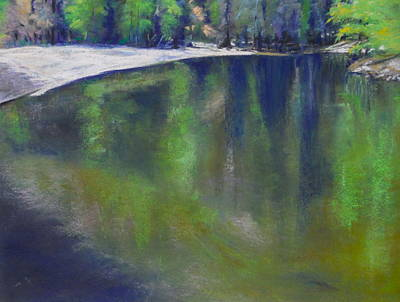 Pastel - Upriver View by Sandra Lee Scott