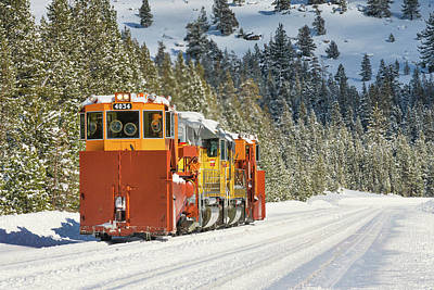 Photograph - Uprr Jordan Spreaders Spmw 4030 And Spmw 4034 At Soda Springs by Jim Thompson