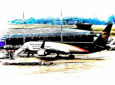 Photograph - Ups Cargo Plane Stansted Airport by Dorothy Berry-Lound