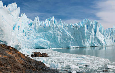 Cold Temperature Photograph - Upsala Glacier by Michael Leggero