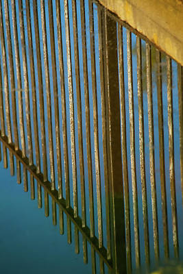 Modern Sophistication Beaches And Waves Royalty Free Images - Upside Down Fence Royalty-Free Image by Karol Livote