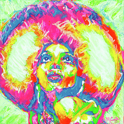 Diana Ross Painting - Upside Down by Michael Emory