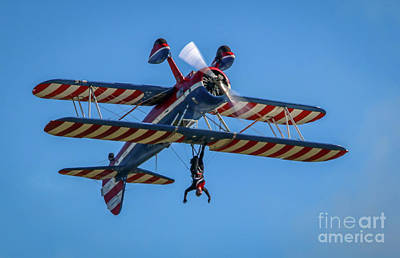 Photograph - Upside Down Wing Walker by Tom Claud
