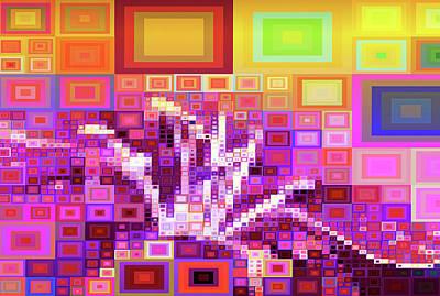 Digital Art - Upstairs Downstairs Geometric Abstract by Georgiana Romanovna