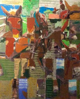 Donkey Mixed Media - Upstate by Barry Miller