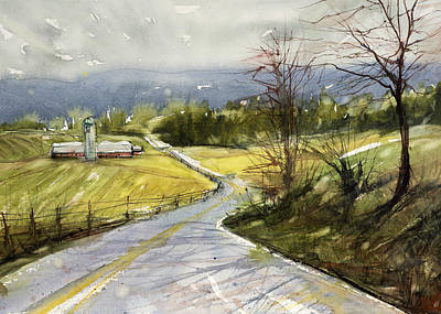 Painting - Upstate Landscape by Judith Levins