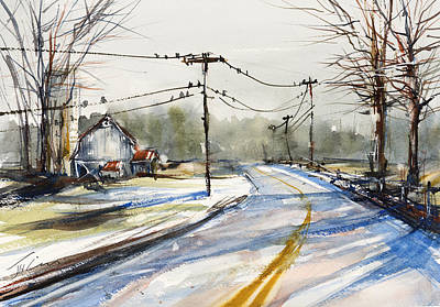 Painting - Upstate Ny Sunday Drive by Judith Levins