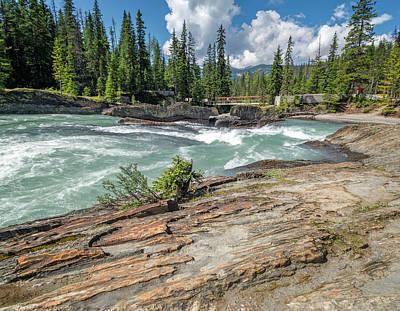 British Columbia Photograph - Upstream From Natural Bridge Yoho National Park by Joan Carroll
