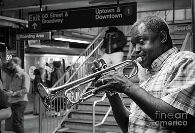 Photograph - Uptown And Downtown  -70013 Bw by John Bald