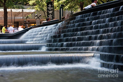 Photograph - Uptown Charlotte Water Fountain by Jill Lang