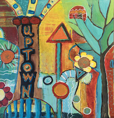 Painting - Uptown Dream World by Susan Stone