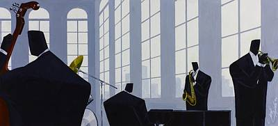 Painting - Uptown Hall Recital by Darryl Daniels
