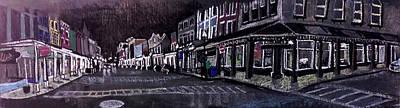 Uptown Kingston At Night Art Print