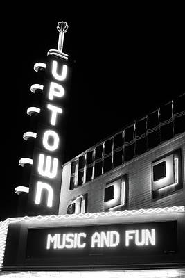 Dallas Photograph - Uptown Music And Fun Bw 31417 by Rospotte Photography