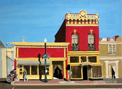 Painting - Uptown Shopping by Douglas Teller