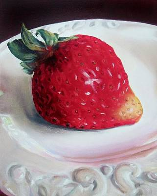 Painting - Uptown Strawberry Girl by Wendy Winbeckler Kanojo