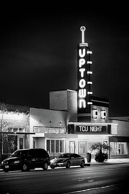 Texas Photograph - Uptown Theater Bw 31417 by Rospotte Photography