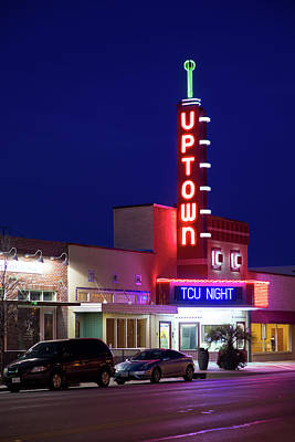 Photograph - Uptown Theater Grand Praire Texas 31317 by Rospotte Photography