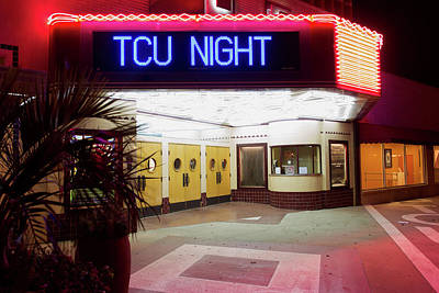 Photograph - Uptown Theater Horned Frogs Night 031417 by Rospotte Photography