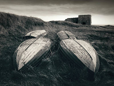 Photograph - Upturned Boats by Dave Bowman