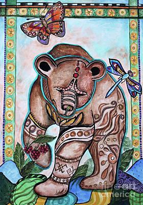 Etnic Art Painting - Ural Bear by Yana Sadykova